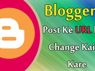 blogspot me Post URL ko change Kare